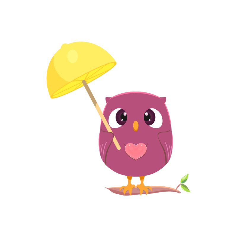 Lemon-brella Owl by Character Issues Shop