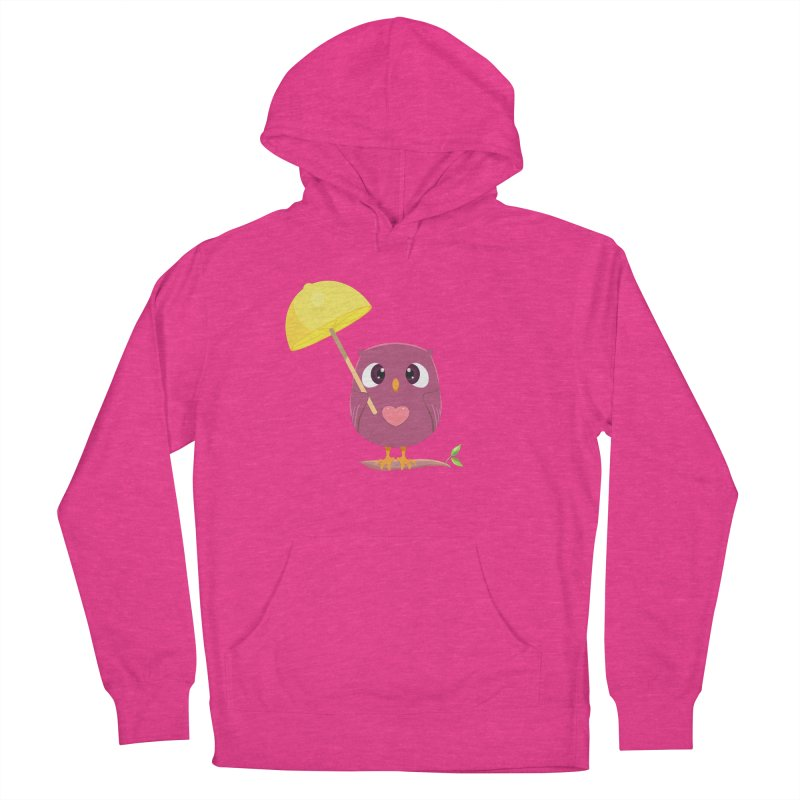 Lemon-brella Owl Women's French Terry Pullover Hoody by Character Issues Shop