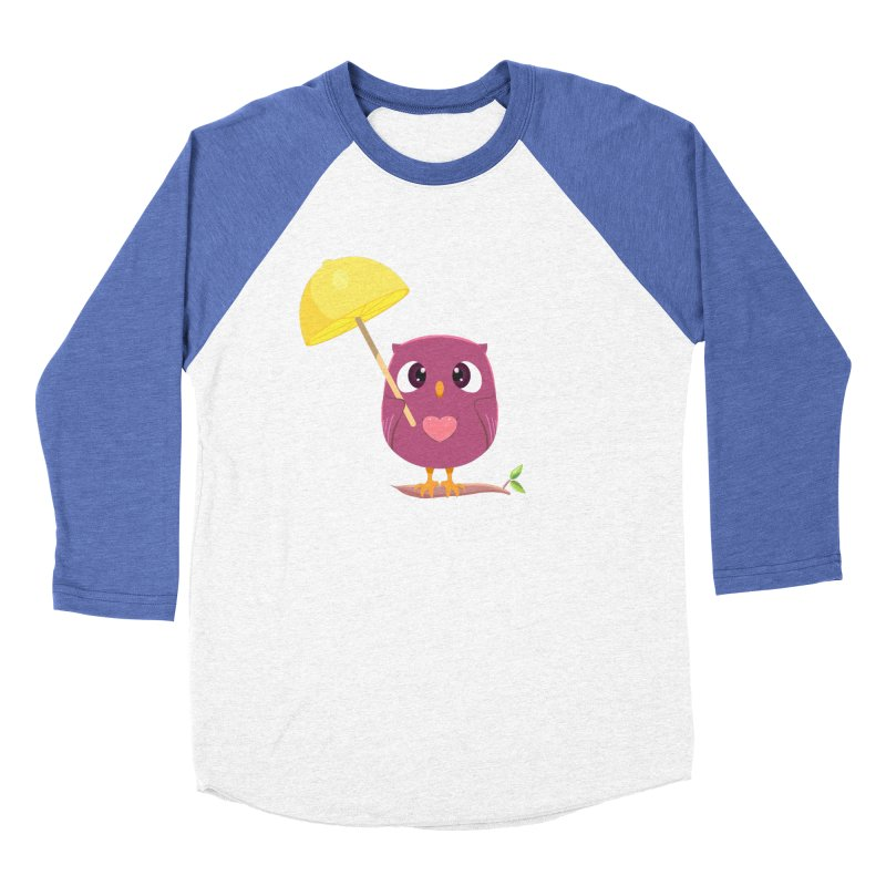 Lemon-brella Owl Women's Baseball Triblend Longsleeve T-Shirt by Character Issues Shop