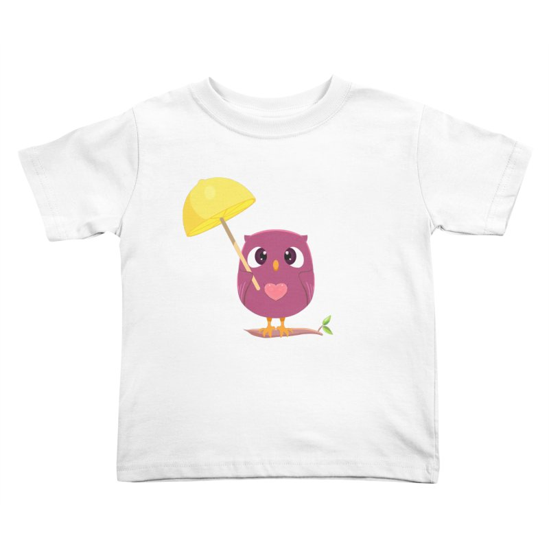 Lemon-brella Owl Kids Toddler T-Shirt by Character Issues Shop