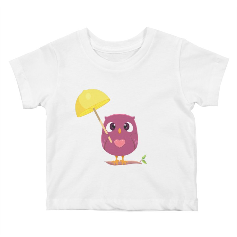 Lemon-brella Owl Kids Baby T-Shirt by Character Issues Shop