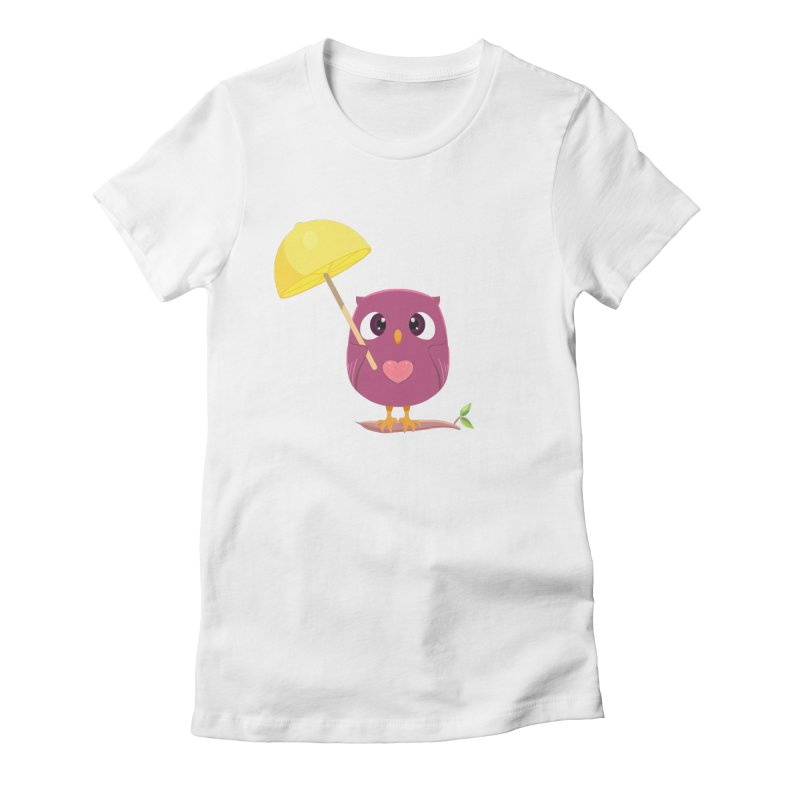 Lemon-brella Owl Women's Fitted T-Shirt by Character Issues Shop