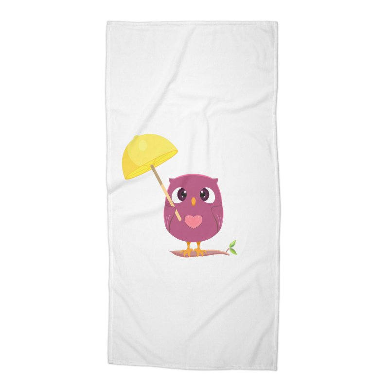Lemon-brella Owl Accessories Beach Towel by Character Issues Shop