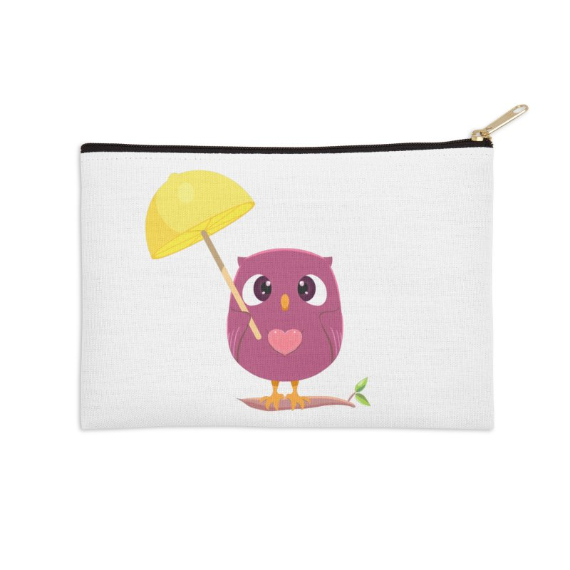 Lemon-brella Owl Accessories Zip Pouch by Character Issues Shop