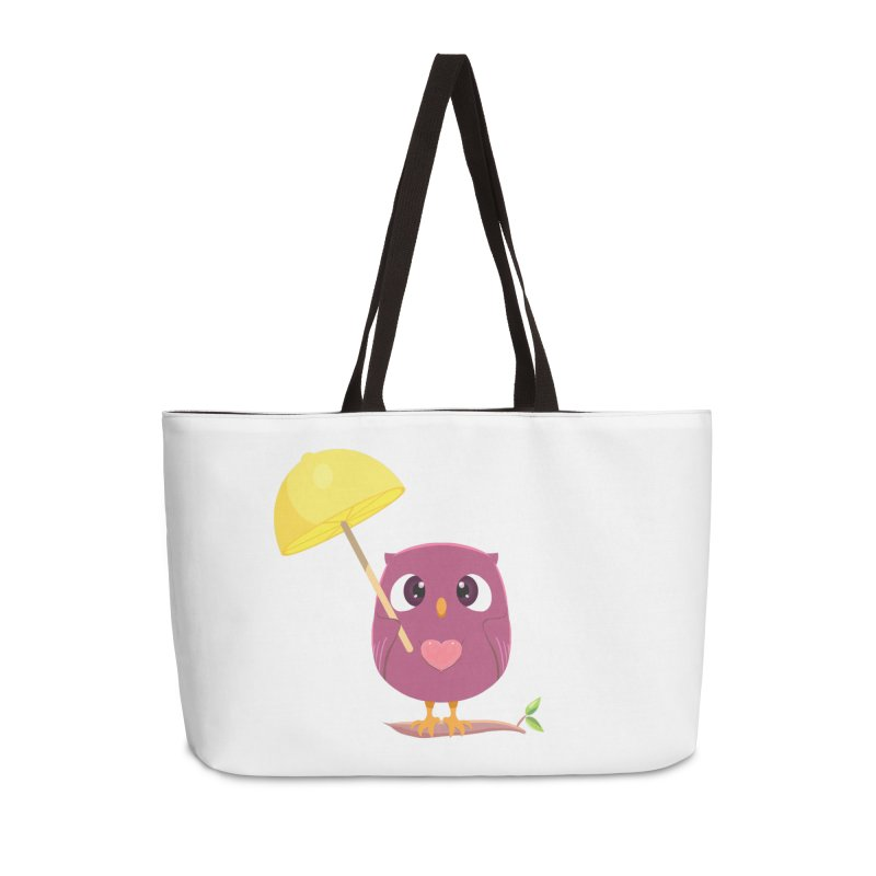 Lemon-brella Owl Accessories Weekender Bag Bag by Character Issues Shop