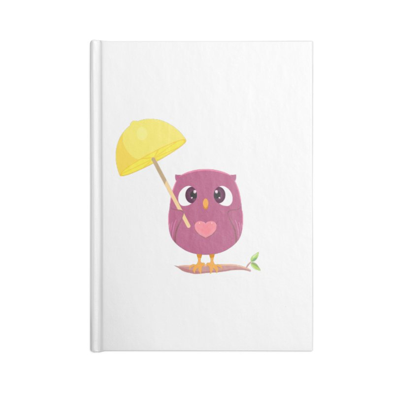 Lemon-brella Owl Accessories Blank Journal Notebook by Character Issues Shop