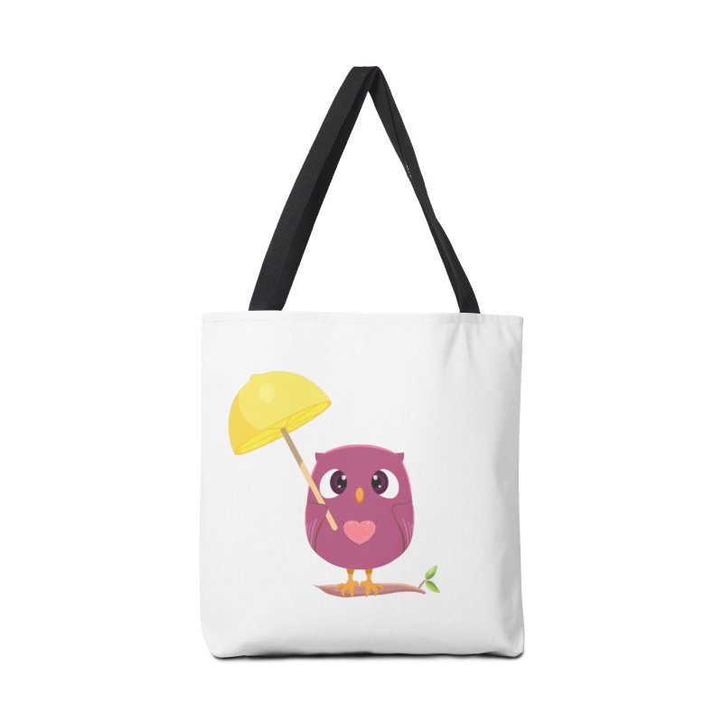 Lemon-brella Owl Accessories Tote Bag Bag by Character Issues Shop