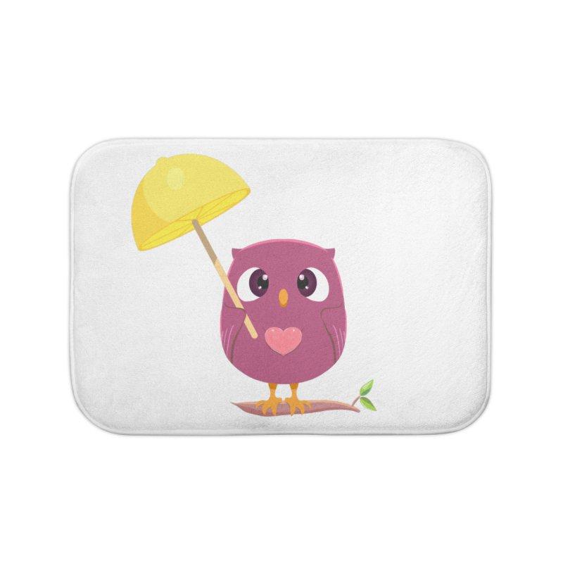 Lemon-brella Owl Home Bath Mat by Character Issues Shop