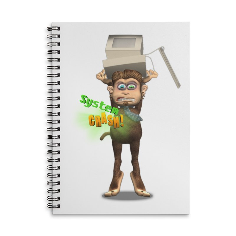 System Crash Accessories Lined Spiral Notebook by Character Issues Shop