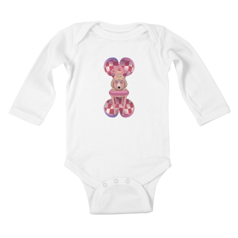 Puppy Sphinx Kids Baby Longsleeve Bodysuit by Character Issues Shop