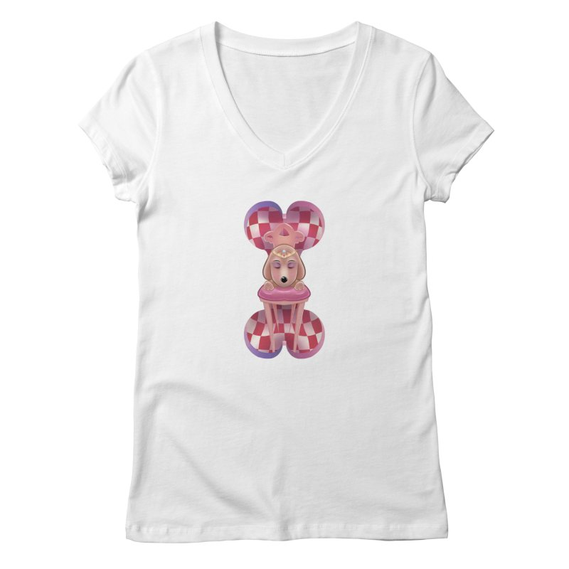 Puppy Sphinx Women's Regular V-Neck by Character Issues Shop