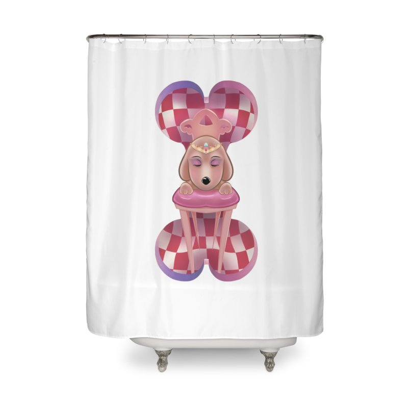 Puppy Sphinx Home Shower Curtain by Character Issues Shop