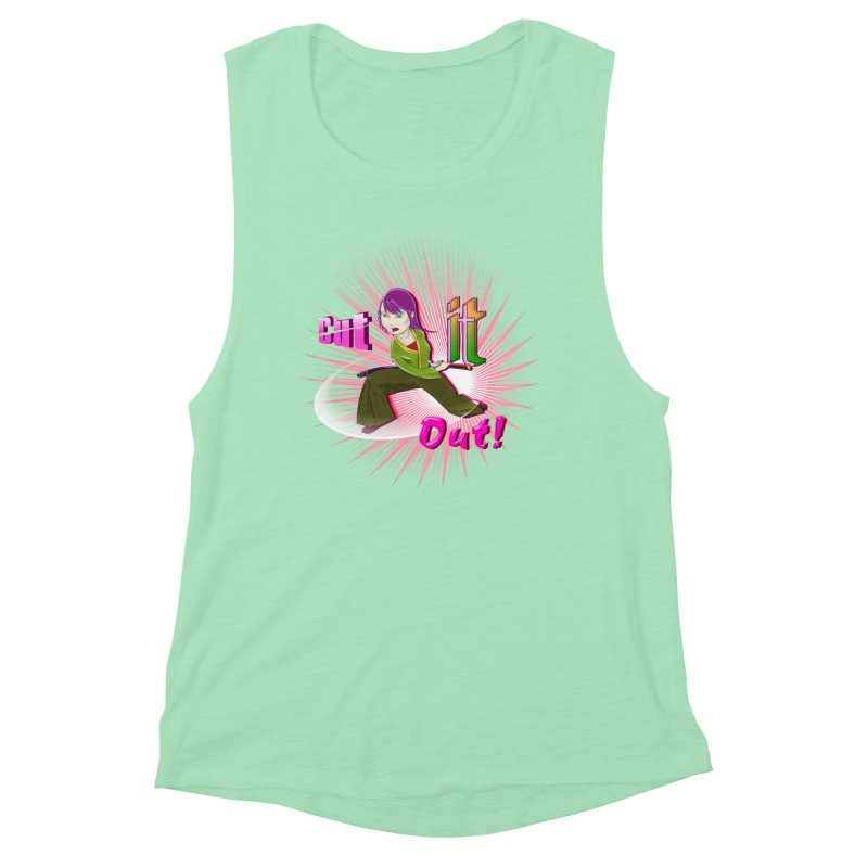 Cut It Out! Women's Muscle Tank by Character Issues Shop
