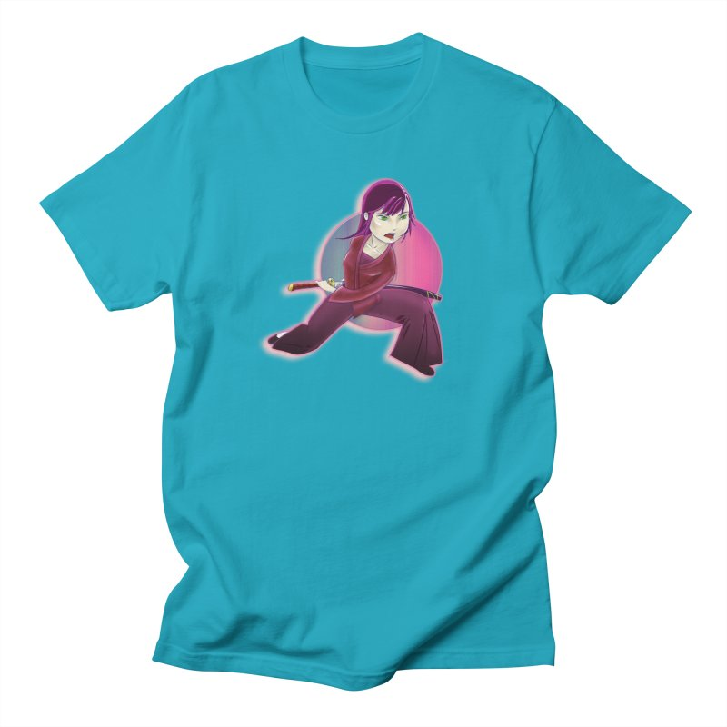 A Girl, a Sword, a Circle Women's Regular Unisex T-Shirt by Character Issues Shop