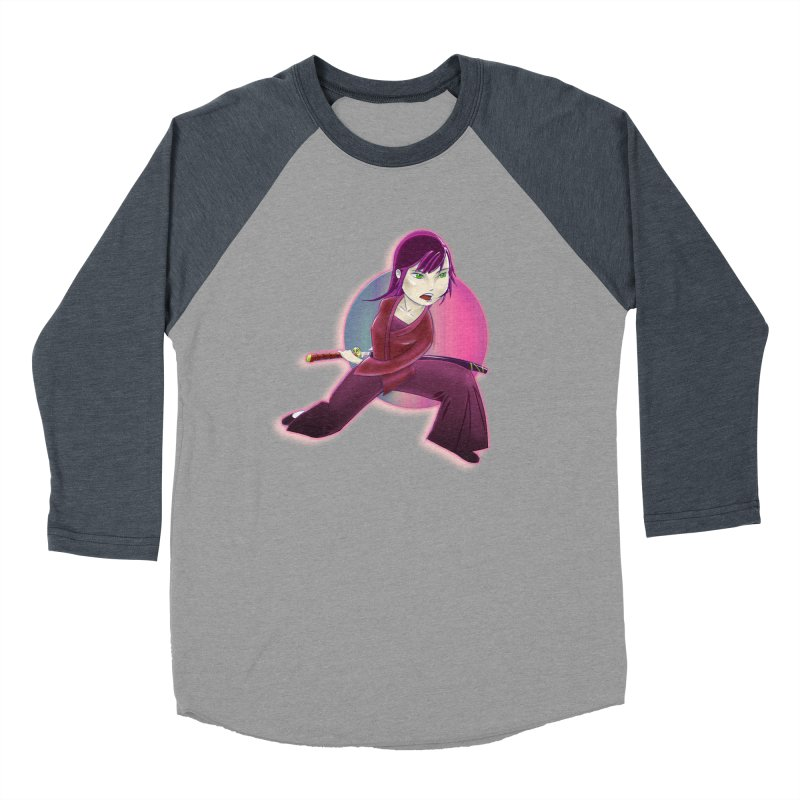 A Girl, a Sword, a Circle Women's Baseball Triblend Longsleeve T-Shirt by Character Issues Shop