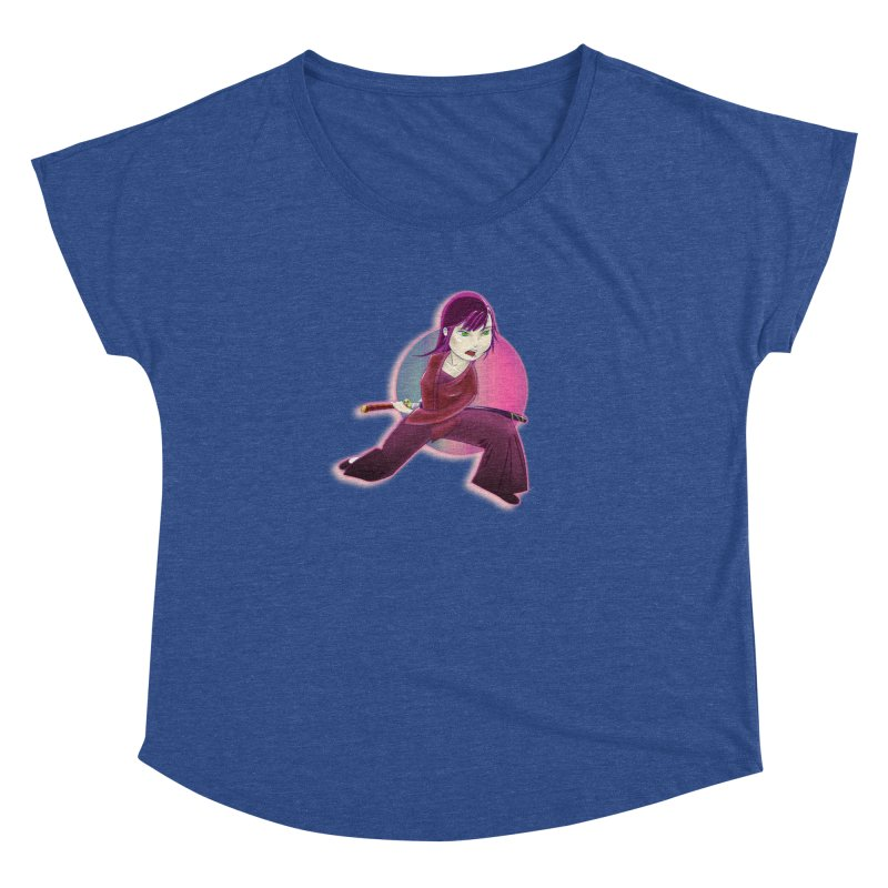 A Girl, a Sword, a Circle Women's Dolman Scoop Neck by Character Issues Shop
