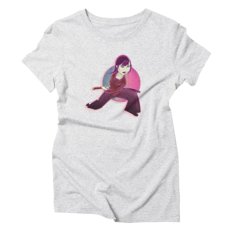 A Girl, a Sword, a Circle Women's Triblend T-Shirt by Character Issues Shop