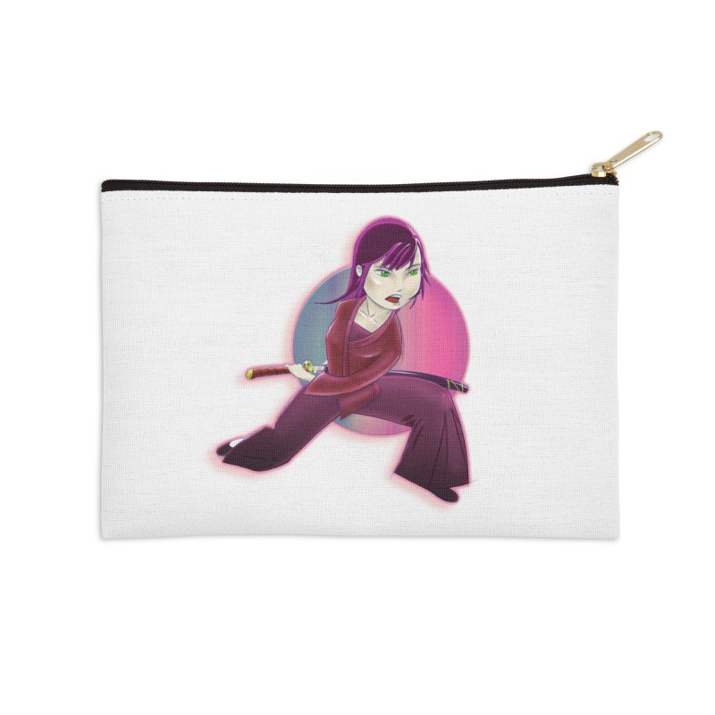 A Girl, a Sword, a Circle Accessories Zip Pouch by Character Issues Shop