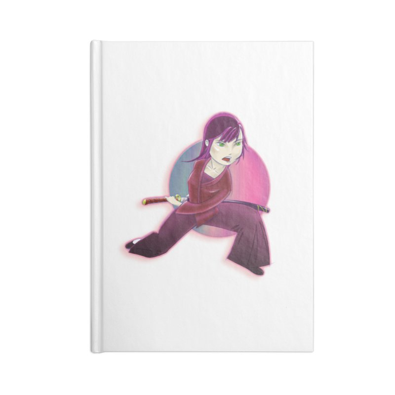 A Girl, a Sword, a Circle Accessories Blank Journal Notebook by Character Issues Shop