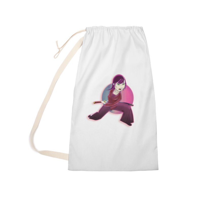 A Girl, a Sword, a Circle Accessories Laundry Bag Bag by Character Issues Shop