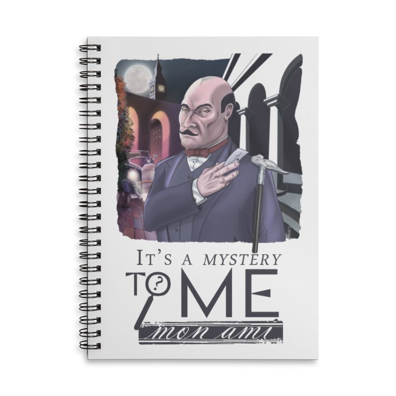 Mystery to Me Accessories Lined Spiral Notebook by Character Issues Shop