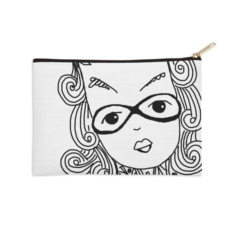Fly Away Girl Accessories Zip Pouch by charcoalram's Artist Shop