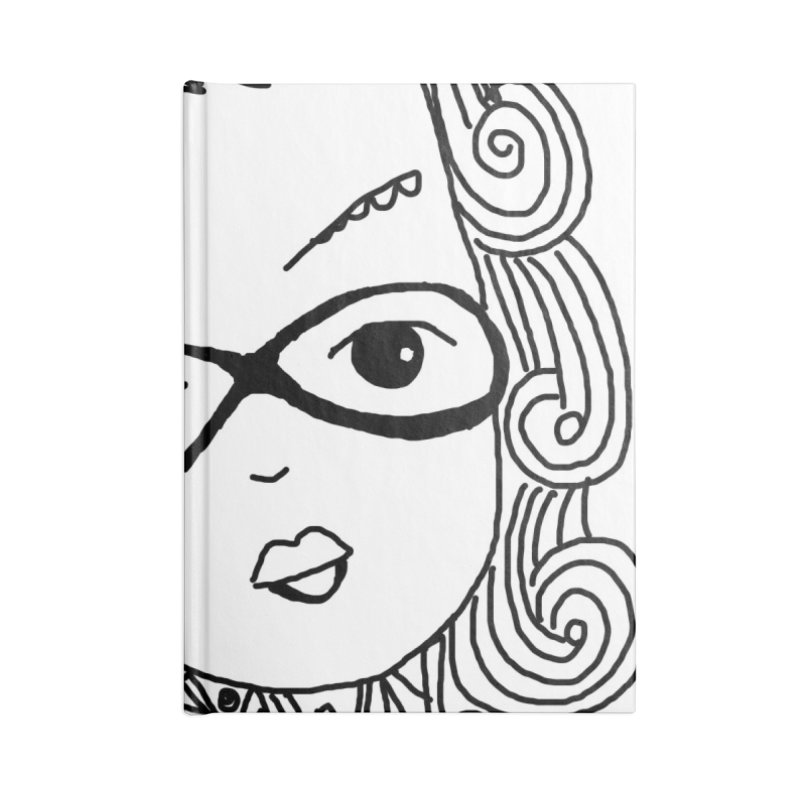 Fly Away Girl Accessories Notebook by charcoalram's Artist Shop