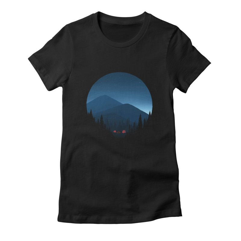 dawn Women's Fitted T-Shirt by art by chardablob