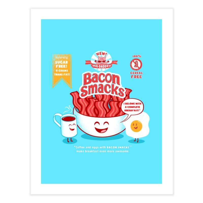 Bacon Smacks Home Fine Art Print by Charity Ryan