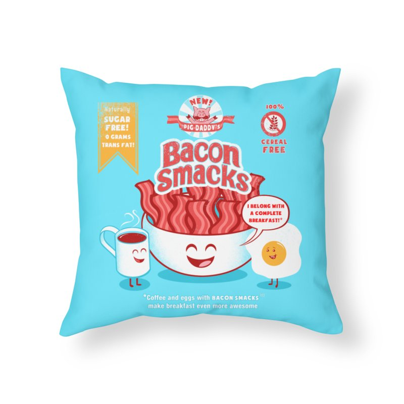 Bacon Smacks Home Throw Pillow by Charity Ryan