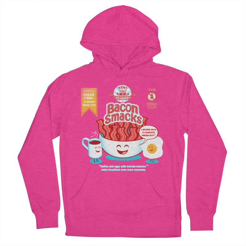Bacon Smacks Men's Pullover Hoody by Charity Ryan