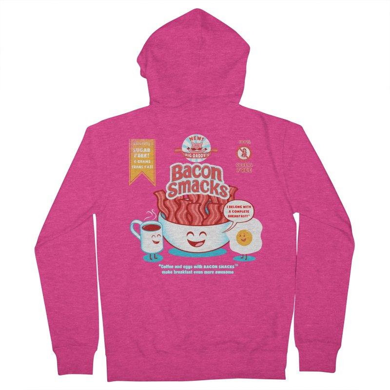 Bacon Smacks Women's Zip-Up Hoody by Charity Ryan