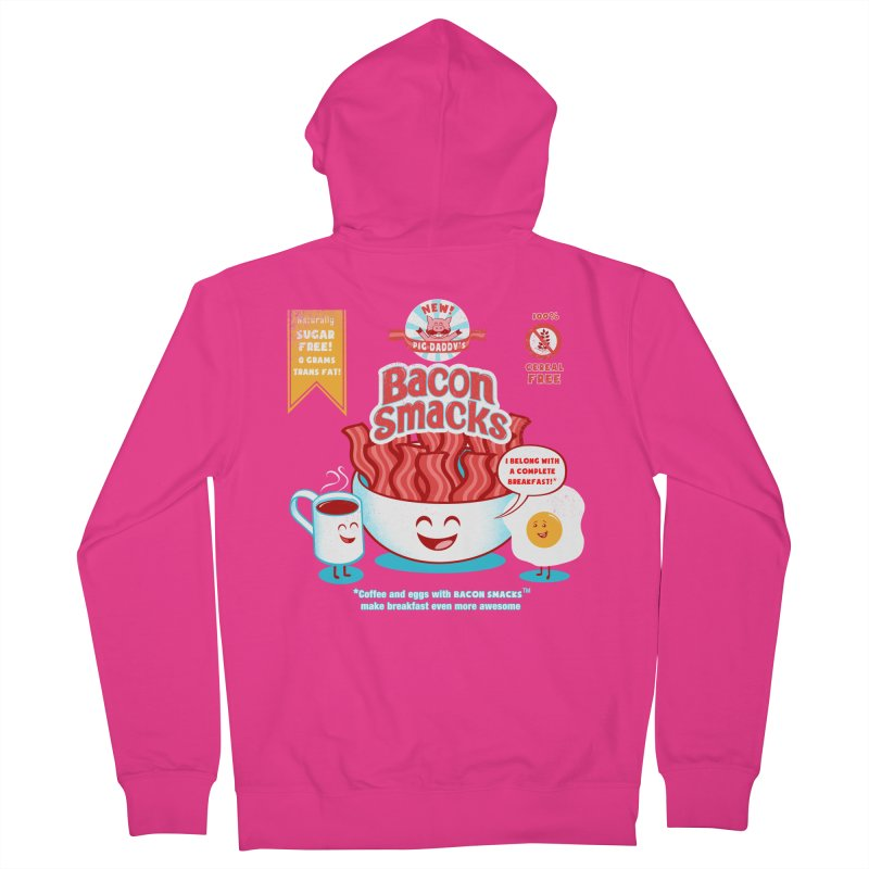 Bacon Smacks Men's Zip-Up Hoody by Charity Ryan