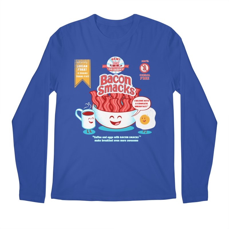 Bacon Smacks Men's Longsleeve T-Shirt by Charity Ryan