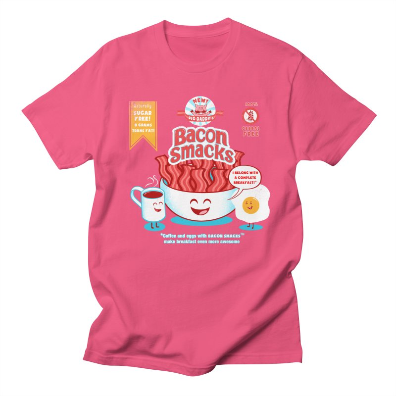 Bacon Smacks Men's T-Shirt by Charity Ryan