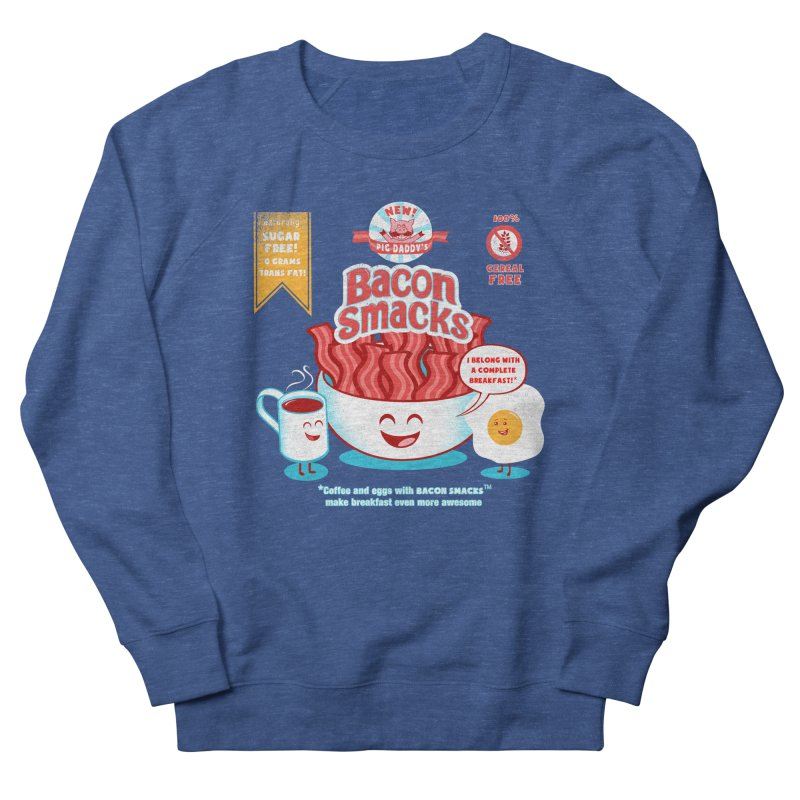Bacon Smacks Men's Sweatshirt by Charity Ryan
