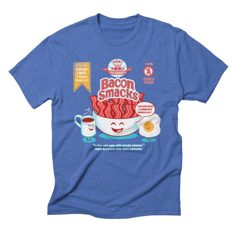 Bacon Smacks Men's Triblend T-Shirt by Charity Ryan