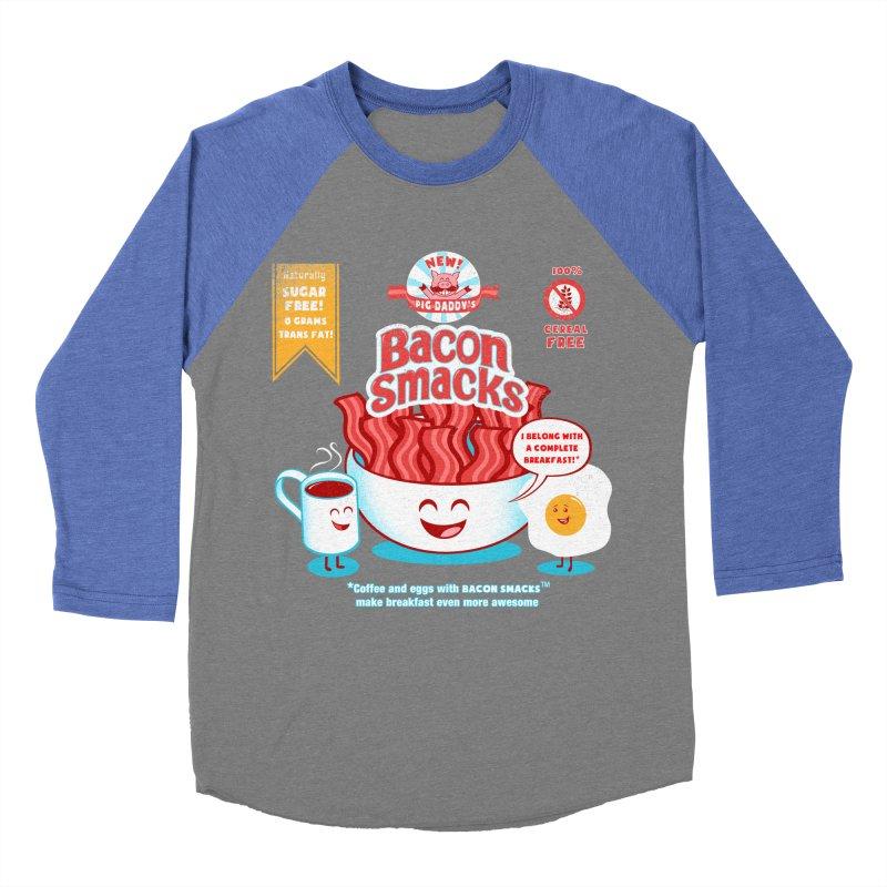 Bacon Smacks Women's Baseball Triblend T-Shirt by Charity Ryan