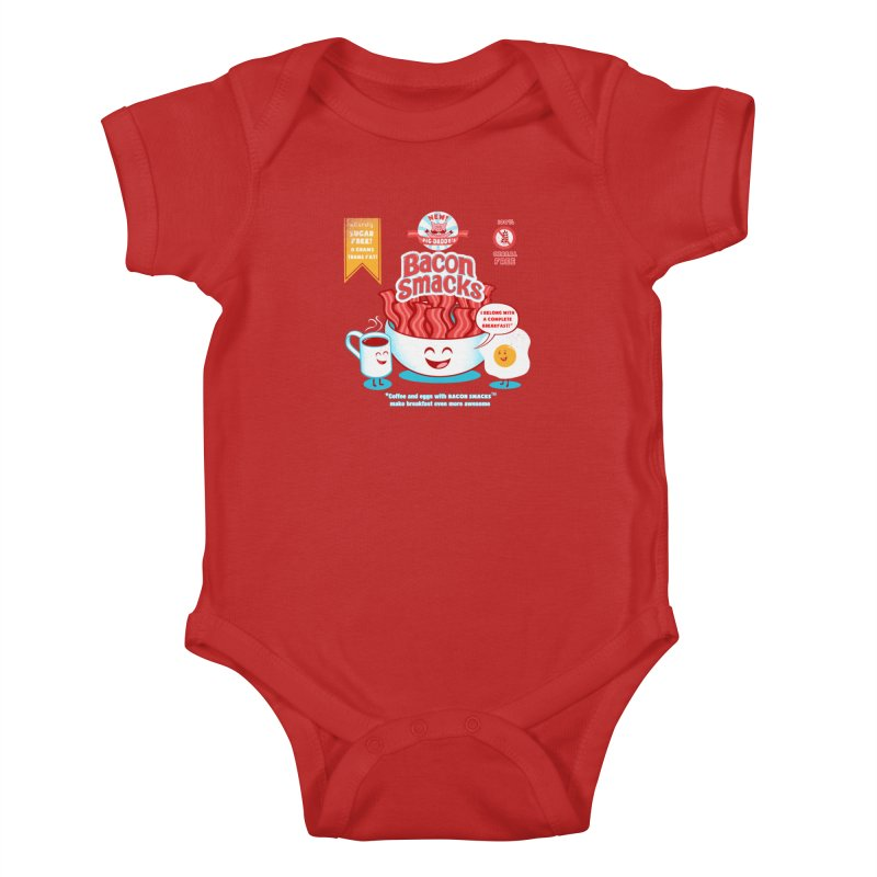 Bacon Smacks Kids Baby Bodysuit by Charity Ryan