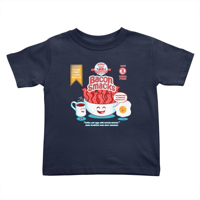Bacon Smacks Kids Toddler T-Shirt by Charity Ryan