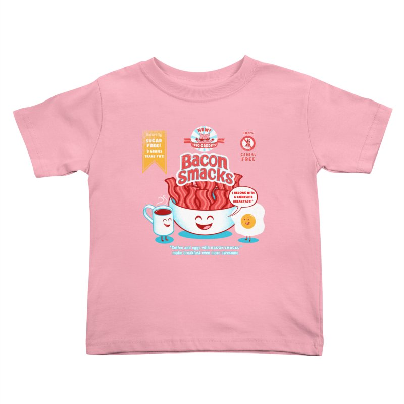 Bacon Smacks Kids Toddler T-Shirt by Charity Ryan