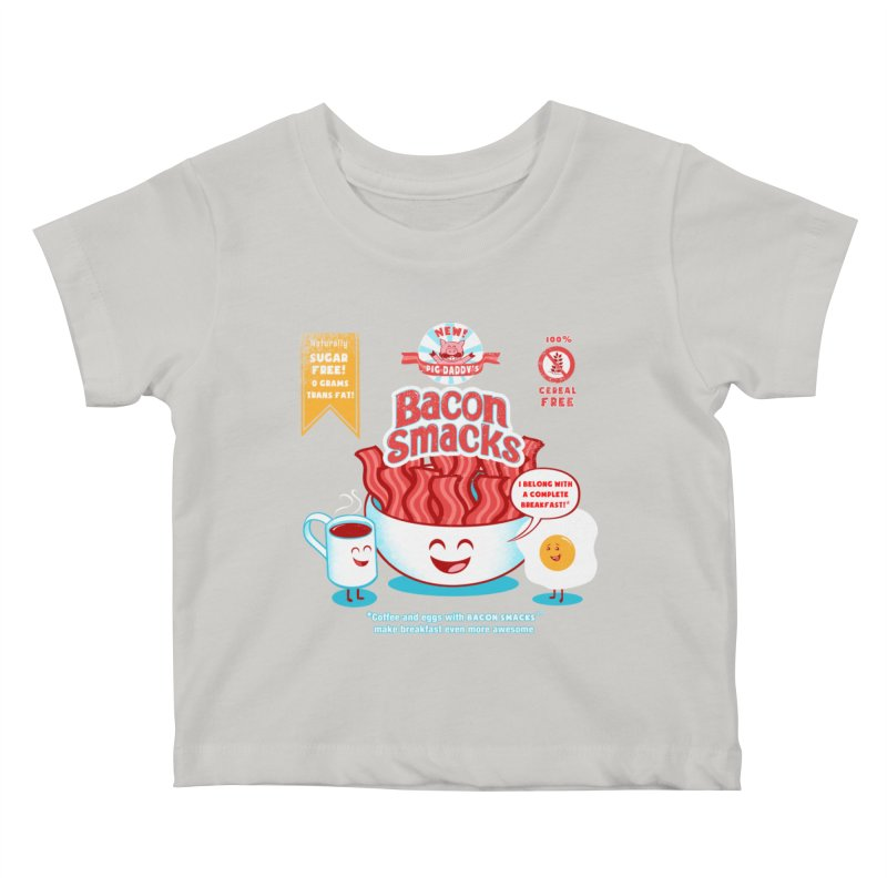 Bacon Smacks Kids Baby T-Shirt by Charity Ryan