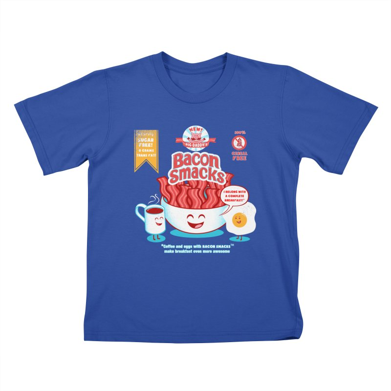 Bacon Smacks Kids T-Shirt by Charity Ryan