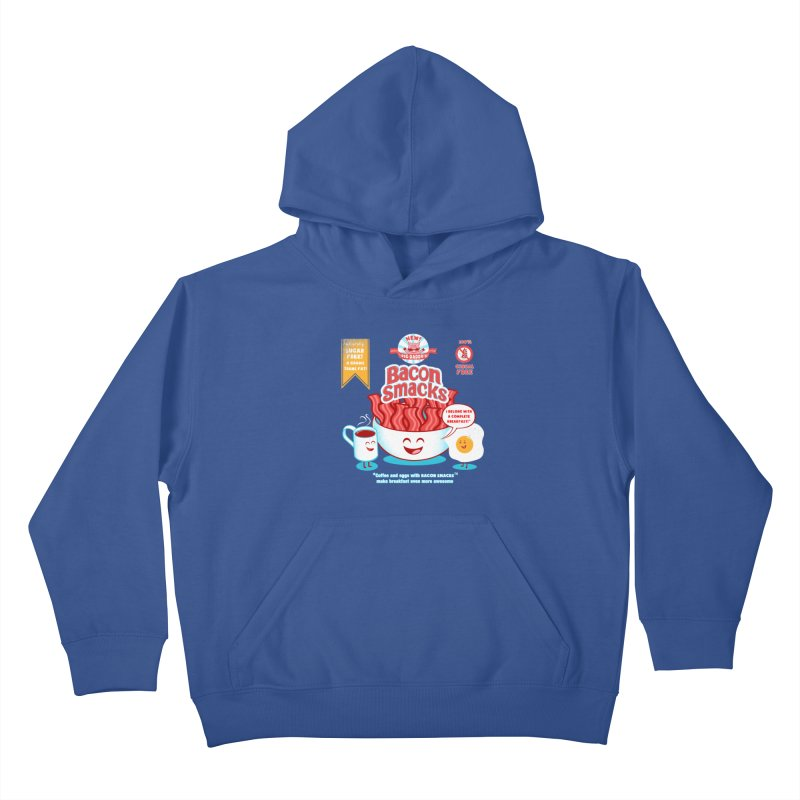 Bacon Smacks Kids Pullover Hoody by Charity Ryan