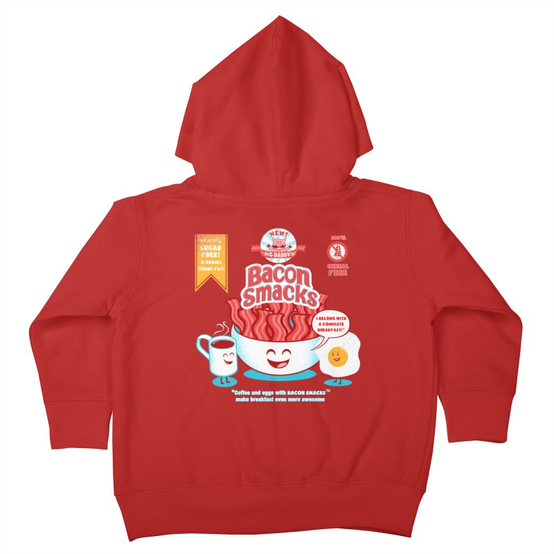 Bacon Smacks Kids Toddler Zip-Up Hoody by Charity Ryan