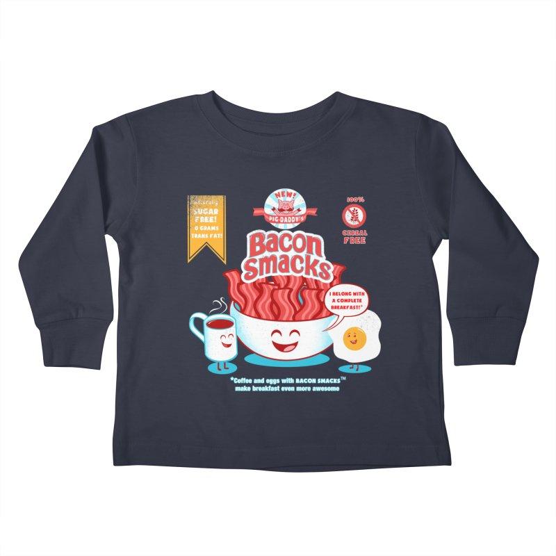 Bacon Smacks Kids Toddler Longsleeve T-Shirt by Charity Ryan
