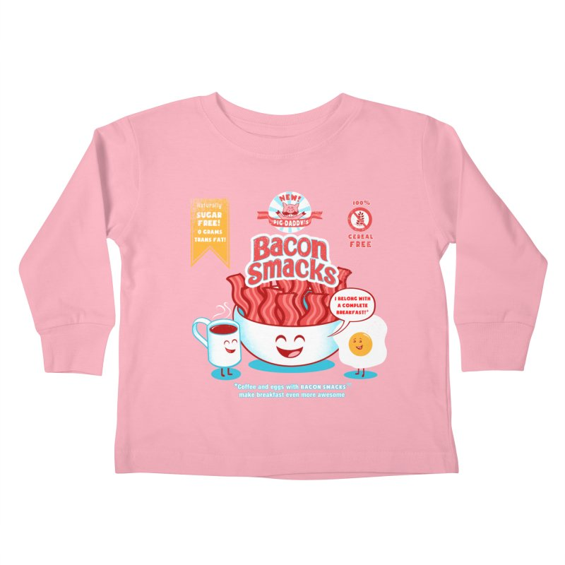Bacon Smacks Kids Toddler Longsleeve T-Shirt by Charity Ryan