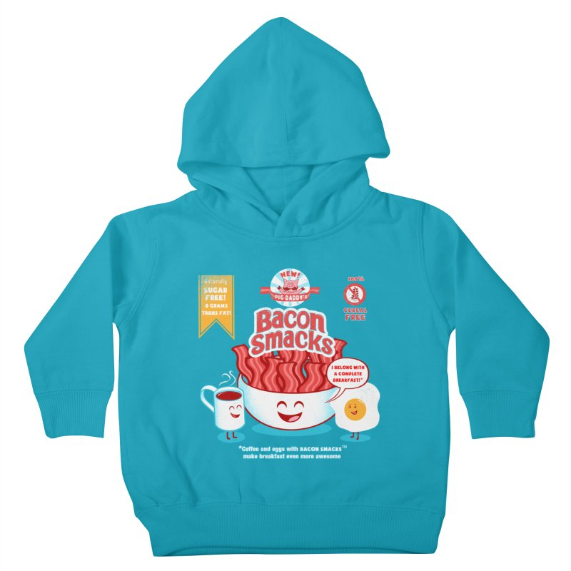 Bacon Smacks Kids Toddler Pullover Hoody by Charity Ryan