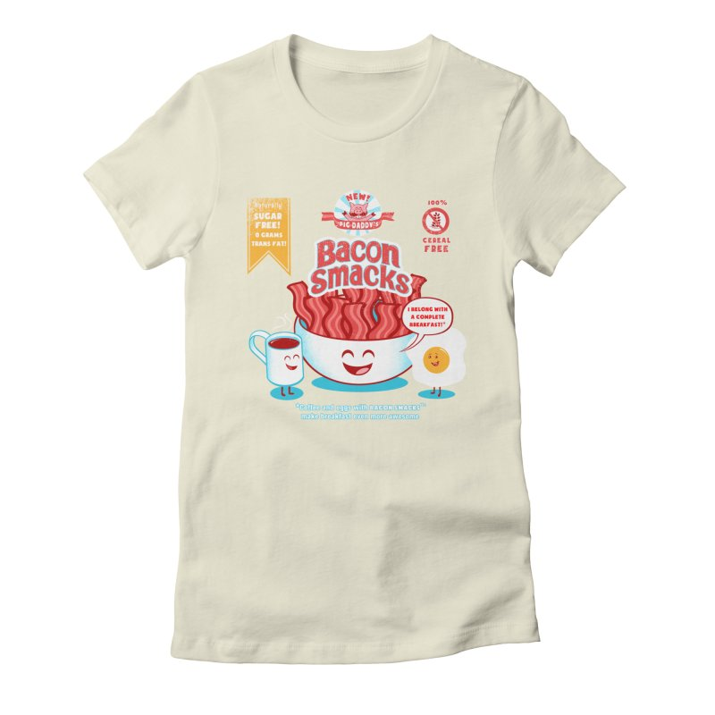 Bacon Smacks Women's Fitted T-Shirt by Charity Ryan