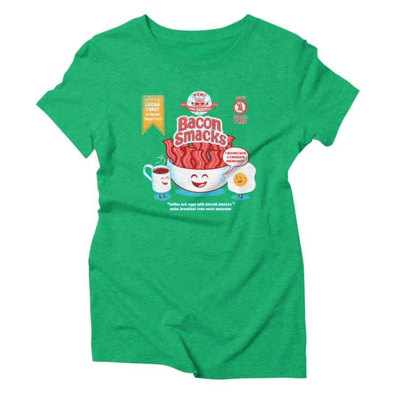 Bacon Smacks Women's Triblend T-Shirt by Charity Ryan
